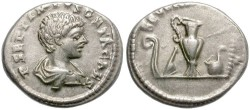 Ancient Coins - GETA. SILVER DENARIUS. ATTRACTIVE COIN.