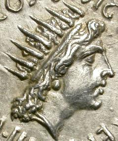 Ancient Coins - MARC ANTHONY. 38 BC. ATHENS. SILVER DENARIUS. EXCELLENT PORTRAIT OF THE GOD SUN.