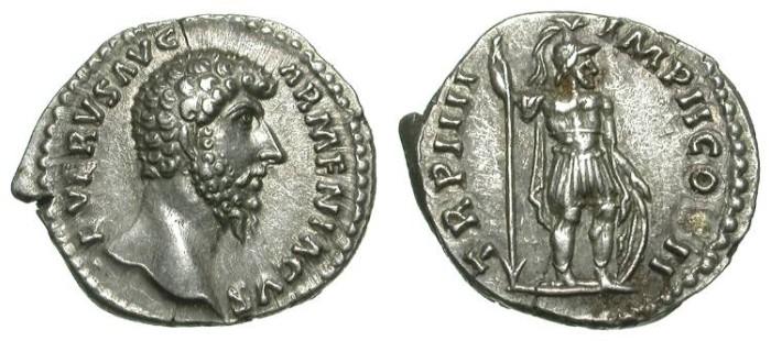 Ancient Coins - LUCIUS VERUS. DENAR. EF. GREAT QUALITY. BEAUTIFUL ISSUE !