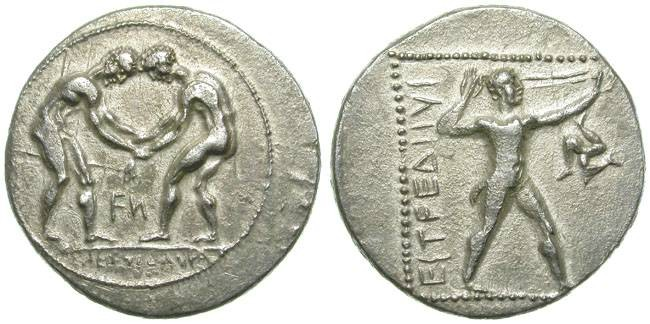 Ancient Coins - ASPENDOS, PAMPHILIA. STATER. VERY NICE COIN