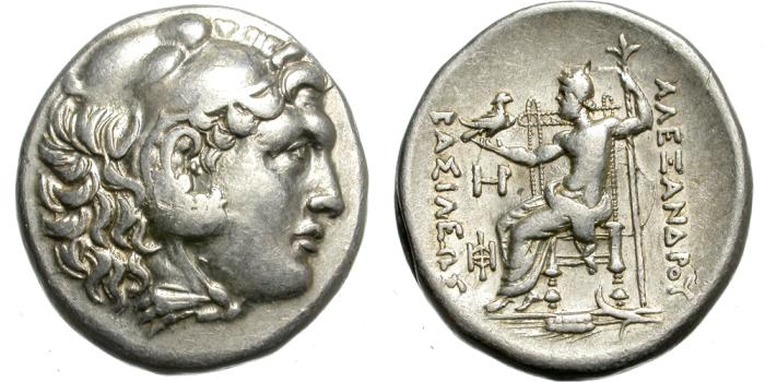 Ancient Coins - ALEXANDER III. 336-323 BC. SILVER TETRADRACHM. KALLATIS. ATTRACTIVE AND NICE VARIANT.