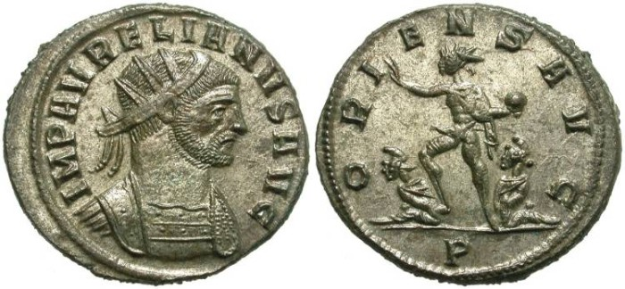 Ancient Coins - AURELIAN. AE ANTONINIANUS. MOST SILVERING REMAINING. GREAT PORTRAIT