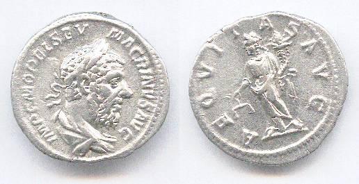 Ancient Coins - Macrinus. Denar. Good VF