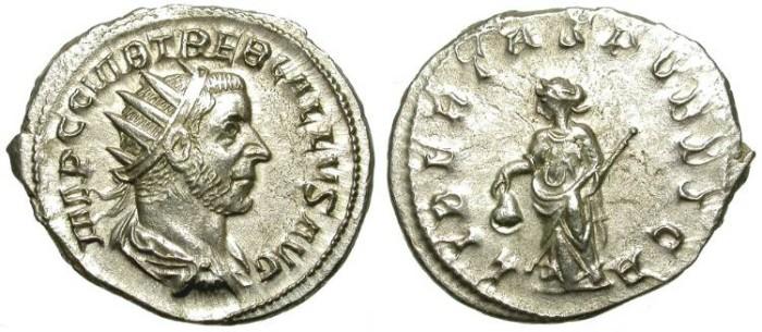 Ancient Coins - TREBONIANUS GALLUS. AG ANTONINIAN. GREAT SILVER CONDITION