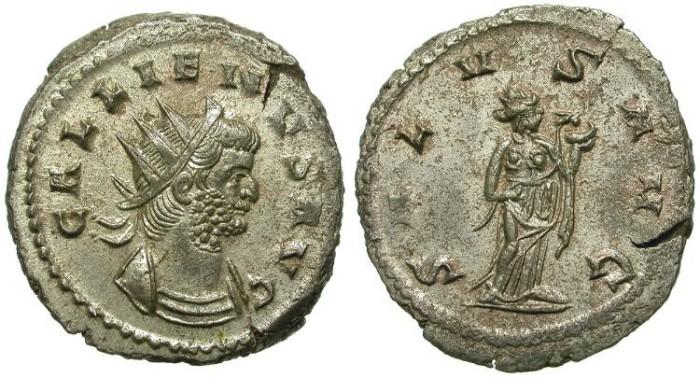 Ancient Coins - RARE GALLIENUS ANTONINIANUS. HEAVY MEDALLIC ISSUE. GREAT THICKNESS. SUPERB PORTRAITURE
