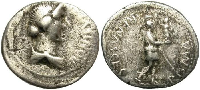 Ancient Coins - CIVIL WARS. AD. 68-69. AR  DENARIUS. UNDETERMINED MINT.  VERY RARE.