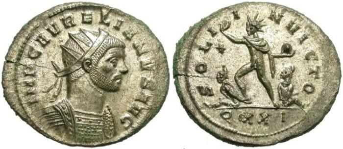Ancient Coins - AURELIAN. AE ANTONINIANUS. ALMOST FULL SILVERING. NICE CONDITION