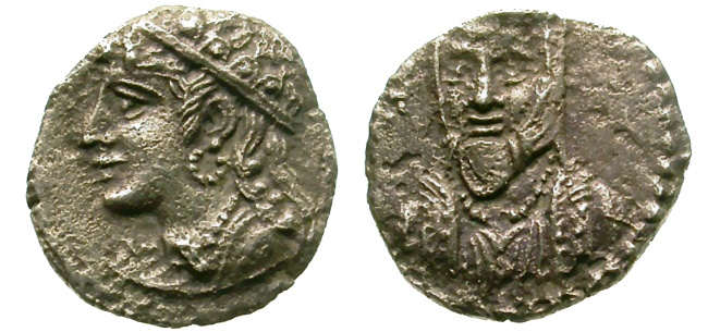 Ancient Coins - CILICIA. RARE OBOL. UNCERTAIN MINT. 4th C. B.C. VERY ATTRACTIVE PORTRAITS. OPPORTUNITY !