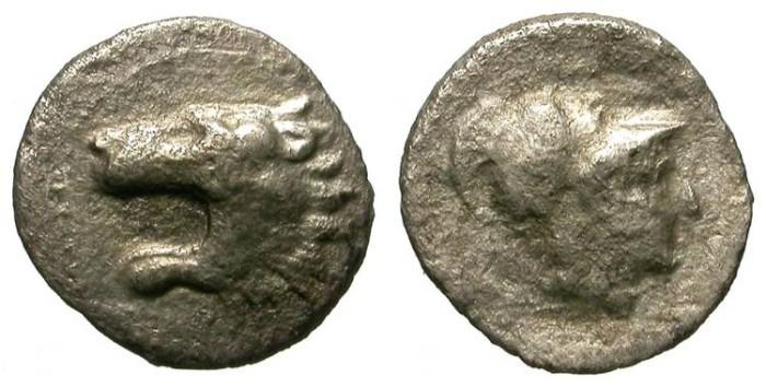 Ancient Coins - ASPENDOS. HEMIOBOL. RARE SMALL ISSUE
