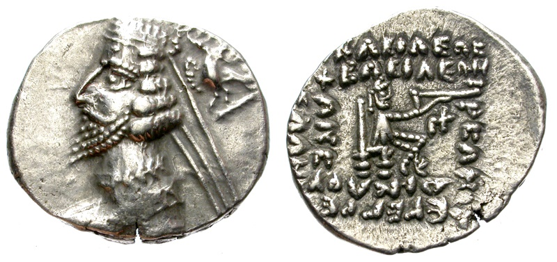 Ancient Coins - PHRAATES IV.CIRCA 38/7-2 BC. AR DRACHM. NICE PIECE.