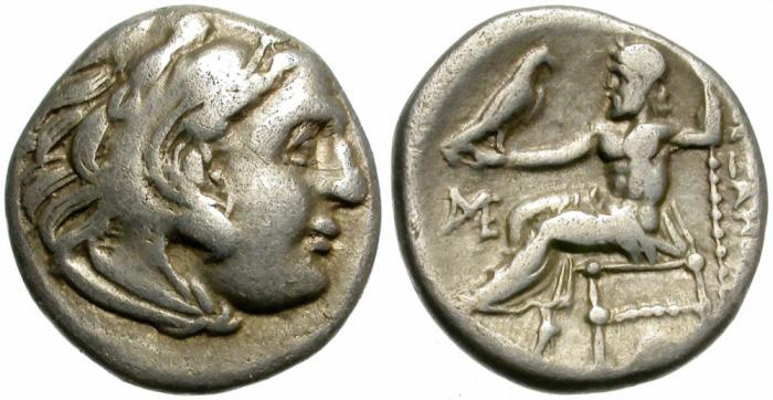 Ancient Coins - ALEXANDER III. SILVER DRACHM. DECENT CONDITION. ECONOMIC./1