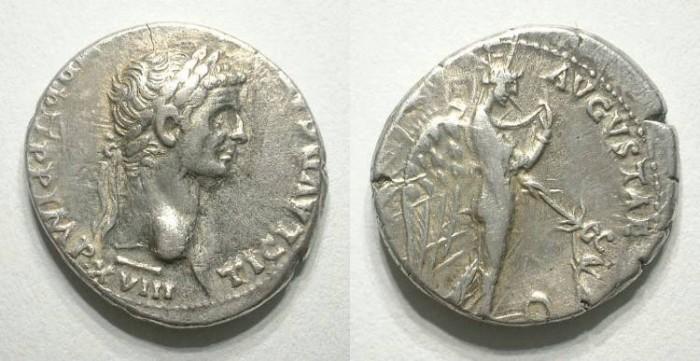 Ancient Coins - CLAUDIUS. DENAR. Nice VF. Attractive portrait.