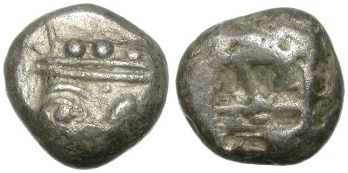 Ancient Coins - PHASELIS, IN LICIA. RARE ARCHAIC STATER. SO INTERESTING EMISSION