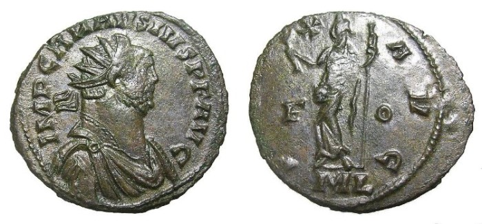 Ancient Coins - CARAUSIUS  ANTONINIANUS.  SCARCE.  GOOD  QUALITY.