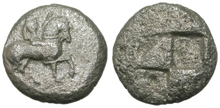 Ancient Coins - MACEDON (?). VERY RARE ARCHAIC STATER !