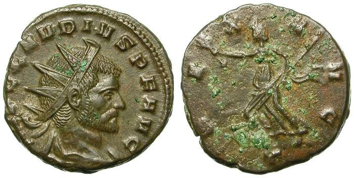 Ancient Coins - CLAUDIUS II GOTHICUS. AE ANTONINIAN. GREAT THICKNESS. MEDALLIC ?