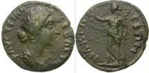 Ancient Coins - FAUSTINA II. RARE PROVINCIAL ISSUE: NAKRASA, LYDIA. NICE !
