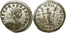 Ancient Coins - PROBUS.  AE ANTONINIAN.  TICINUM  MINT.  MANY SILVERING.