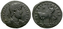JULIAN II. DOUBLE AE MAIORINA. SCARCE ARELATE MINT (ARLES).