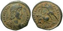 Ancient Coins - CONSTANTIUS II. AE MAIORINA. NICE COIN. BEAUTIFUL PATINA