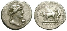 Ancient Coins - TRAJAN. EXTREMELY RARE RESTITUTION DENAR. VF. A REALLY DESIRED COIN !
