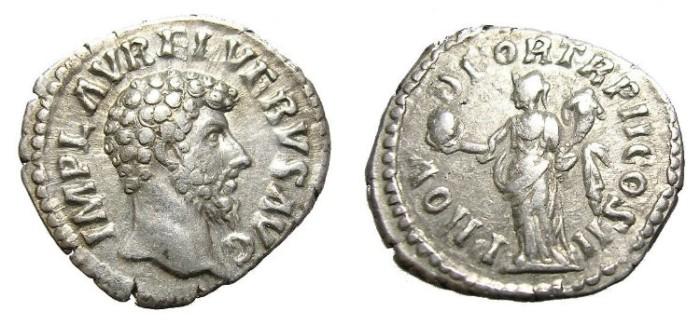 Ancient Coins - LUCIUS  VERUS  DENARIUS.  SCARCE.