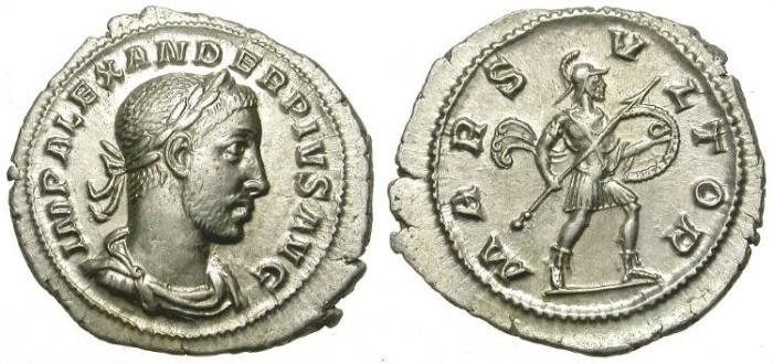Ancient Coins - SEVERUS ALEXANDER. SILVER DENAR. ATTRACTIVE ISSUE