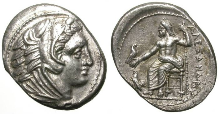 Ancient Coins - ALEXANDER THE GREAT. TETRADRACHM. OVOIDAL FORM. FANTASTIC QUALITY