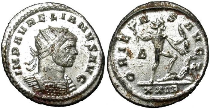 Ancient Coins - AURELIAN. AE ANTONINIANUS. MOST SILVERING REMAINING.