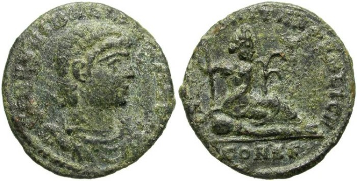 Ancient Coins - HANNIBALIANUS. LATE ROMAN ISSUE. RARE.