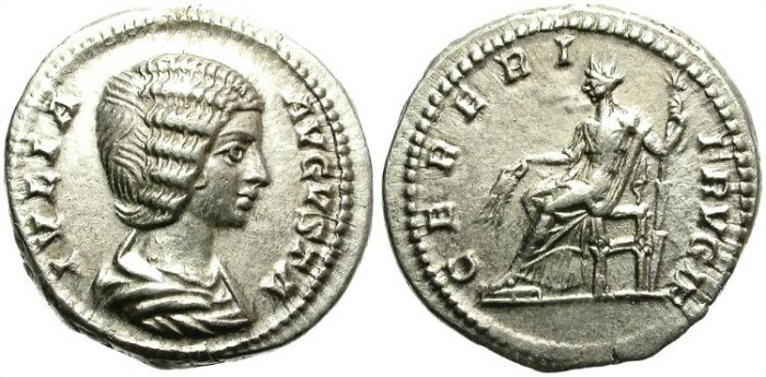 Ancient Coins - IULIA DOMNA. SILVER DENARIUS. GREAT SILVER CONDITION. BEAUTIFUL PORTRAIT