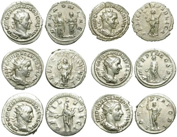 Ancient Coins - LOT OF 6 AG ANTONINIANI. VERY GOOD SILVER QUALITY. GOOD PRICE FOR ISSUES /1