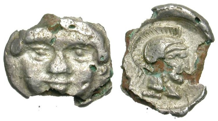 """Ancient Coins - SELGE. FOUREE """"OBOL"""". VERY COURIOUS ANCIENT COUNTERFEIT"""