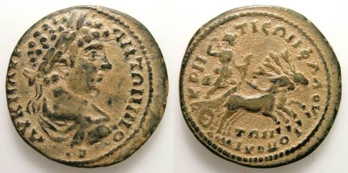 Ancient Coins - CARACALLA. PROVINCIAL ISSUE. A EF. KRETIA-FLAVIOPOLIS. WONDERFUL COIN !