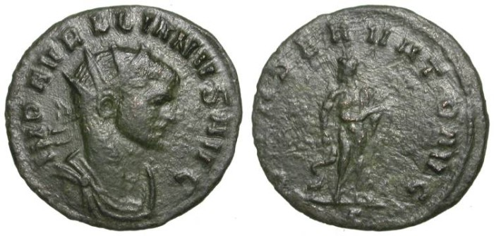 Ancient Coins - AURELIAN. RARE ANTONINIAN. VF. SIMILAR TO RIC 258 (?)