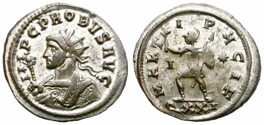 Ancient Coins - PROBUS. ANTONINIAN. 281 AD. TICINUM. INTERESTING COIN .