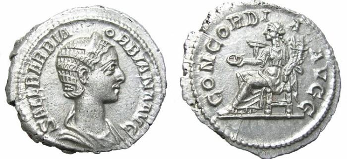 Ancient Coins - ORBIANA  DENARIUS.  SCARCE.