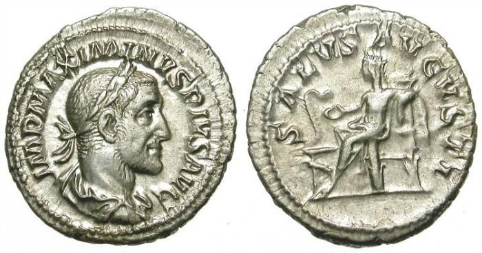 Ancient Coins - MAXIMINUS. SILVER DENARIUS. NICE COIN. EXCELLENT CONDITION /2