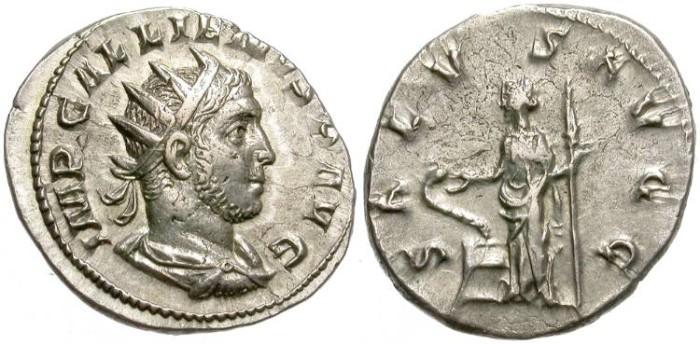 Ancient Coins - GALIENUS.  AR ANTONINIANUS.  INTERESTING PRICE.