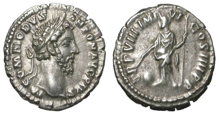 Ancient Coins - COMMODUS. DENAR. NICE EF. GORGEOUS EMPEROR PORTRAIT !