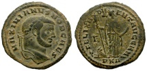 Ancient Coins - GALERIUS MAXIMIANUS. AE FOLLIS. CARTHAGE MINT. AFRICA ON REVERSE. SO NICE.