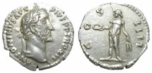 Ancient Coins - ANTONINUS  PIUS  DENARIUS.  GREAT  QUALITY.