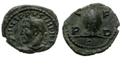 Ancient Coins - PHILIP I THE ARAB. PROVINCIAL AE FROM DEULTUM, THRACE. BEEHIVE ON REV.