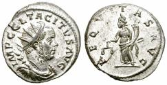 Ancient Coins - TACITUS. ANTONINIANUS. AD 275. LUGDUNUM. VERY FINE.
