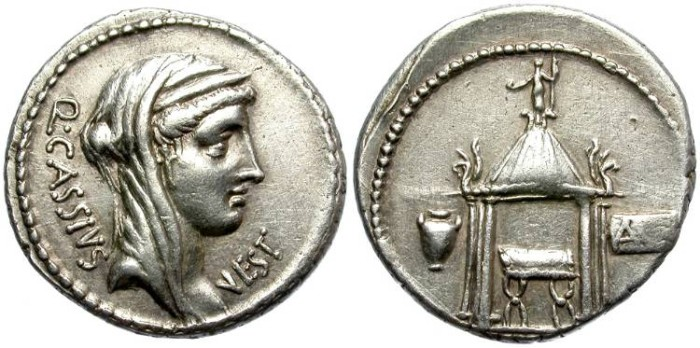 Ancient Coins - ROMAN REPUBLIC. SILVER DENARIUS. CASSIA 9. SO NICE CONDITION.