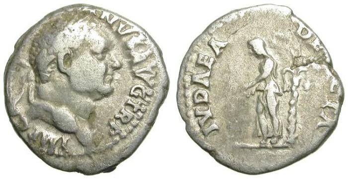 Ancient Coins - VESPASIAN. DENARIUS. IUDAEA DEVICTA. EXTREMELY RARE !!