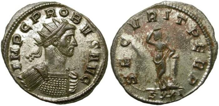 Ancient Coins - PROBUS.  AE ANTONINIANUS.  TICINUM MINT.  BEAUTIFUL BUST.