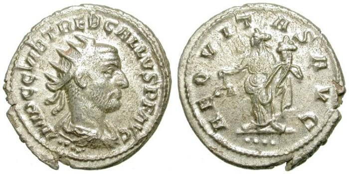 Ancient Coins - TREBONIAN GALLUS. AG ANTONINIAN. ANTIOCH. INTERESTING EMISSION.