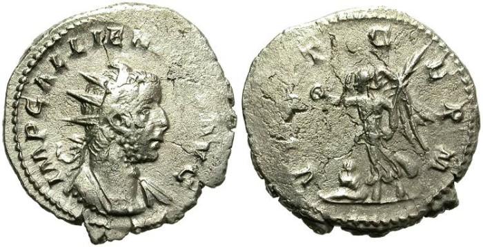 Ancient Coins - GALLIENUS (253 - 268 A.D)  AR ANTONINIANUS. OPPORTUNITY.
