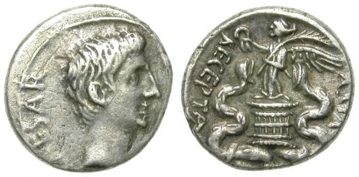 "Ancient Coins - QUINAR. AUGUSTUS. RARE ""ASIA RECEPTA"""